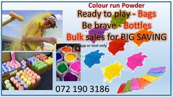 Colour powder for colour run
