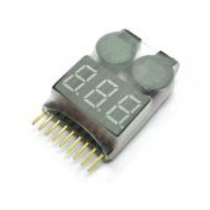 1-8Cell Battery Checker wtih Low voltage buzzer Alarm