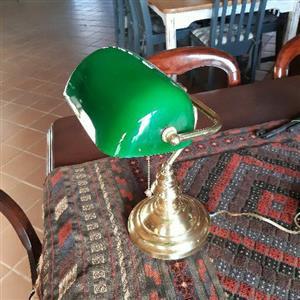 Lawyers desk lamp green shade
