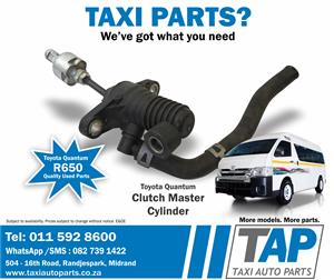Toyota Quantum CLUTCH MASTER CYLINDER quality used spares for sale at Taxi Auto Parts - TAP