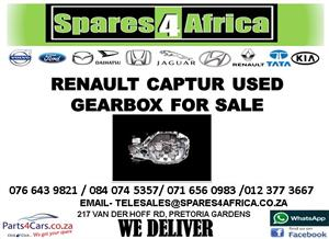 RENAULT CAPTUR USED GEARBOX FOR SALE
