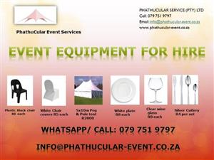 Event planning & Decor, rent or buy event equipment