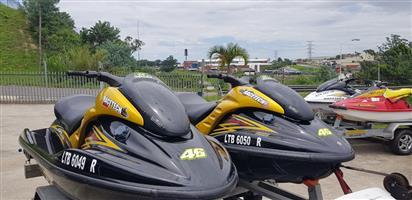 2 x Yamaha GP1300R Waverunners on Galv Double RMR Trailer