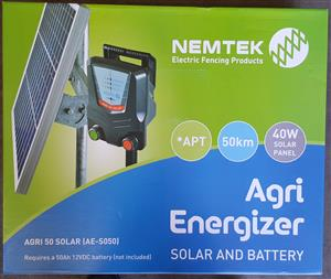 Agri 50 Solar Powered Energizer Kit New