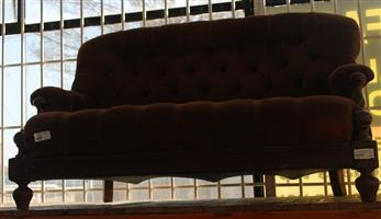 Brown 2 seater couch S030096B #Rosettenvillepawnshop