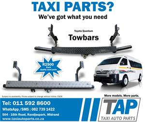Toyota Quantum TOWBAR - Quality used spares - Taxi Auto Parts -TAP