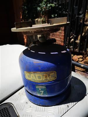 Cadac 3kg gas bottle with adapter's.