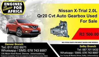 Nissan X-Trial 2.0L Qr20 Cvt Auto Gearbox Used