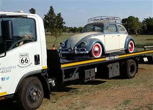 Durban / KZN to GAUTENG. Car Transport & Generator Transport with flatbed rollback truck.