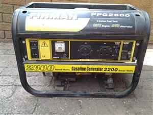 5.5 hp 2 kw generator for sale  bargain