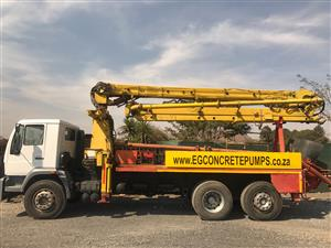 22m Putmeister concrete pump installed on a 2005 MAN M-2000 truck