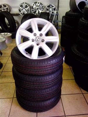 VW Polo 15 inch Polo rims with 175/65/15 brand new tyres R6000 set.