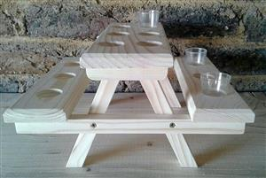 Small shooter bench  holders. Price R100 Each.