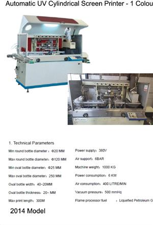 Automatic Uv  Cylinder Screen Printer