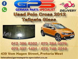 Used VW Polo Cross 2012 Tailgate Glass for Sale