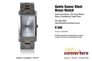 Gents Guess Steel Dress Watch