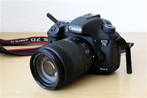 Canon EOS 7D Mark II DSLR Camera with W-E1 Wi-Fi Adapter and Video Kit