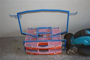 Fish stand with cases