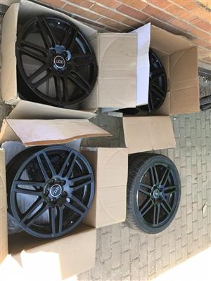 18 inch 5 whole Audi mags PCD 100/114