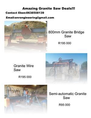 Granite Saws and Skip Bin Trailers for sale