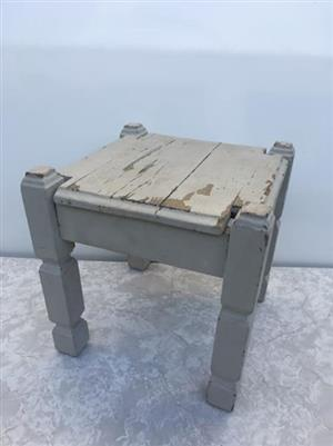 Solid wood rustic side table