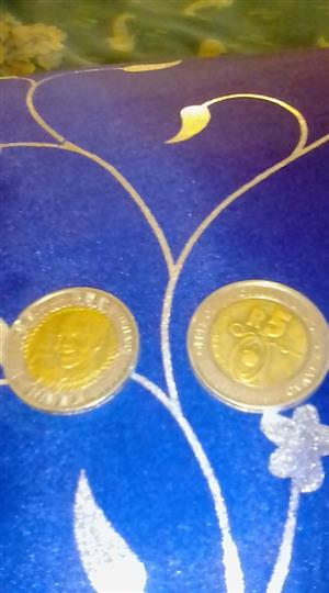 Used, Selling 2018 Nelson Mandela coin R5 for sale  Leandra