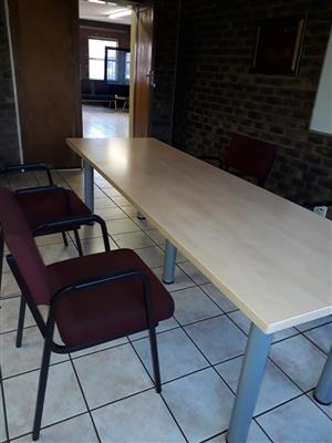 x 2 Neat board room tables for sale