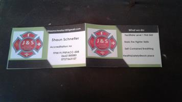 J and S first aid fire fighting training