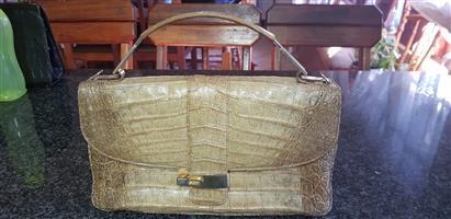 Vintage Pakwells Crocodile handbag