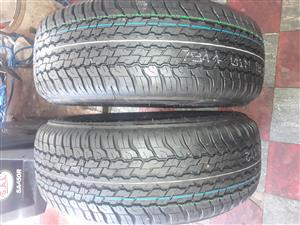 265 / 65 / 17 Dunlop A / T tyres