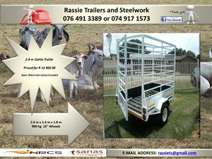 2.4 m Cattle Trailer for sale NRCS approved