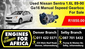 Used Nissan Sentra 1.6L Dohc 89-90 Manual 5speed Gearbox
