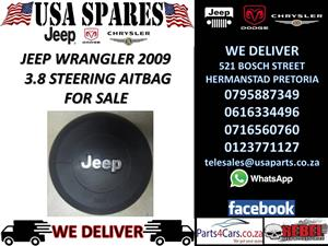 JEEP WRANGLER 3.8 2009 STEERING AIRBAG FOR SALE