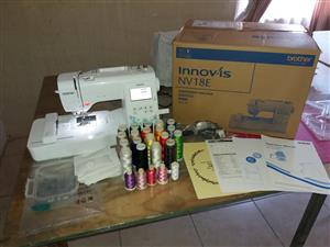 Brother NV18E embroidery machine