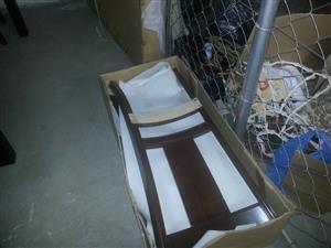 Box full of chair backs