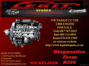 VW PASSAT CC TDI ENGINE FOR SALE
