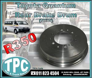 Toyota Quantum Rear Brake Drum - New - New And Used Quality Replacement Taxi Spare Parts - TPC