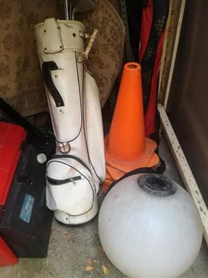 Lamp shade and traffic cones for sale