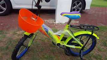 Lime green Dry kiddies bike for sale
