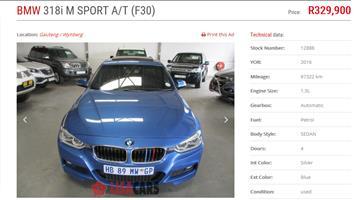 2016 BMW 3 Series 318i M Sport