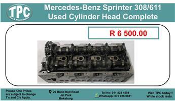 Mercedes-Benz Sprinter 308/611 used Cylinder Head Complete For Sale.