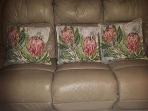 Protea pillows and cover