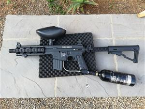 Tippman Sierra One Paintball gun including feeder and 20 oz cylinder for sale