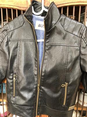 Boys leather jacket - for 9 year old - just in time for Eid!