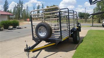 Cattle Farm Trailers With In Different Lengths and All Comes with A Rail