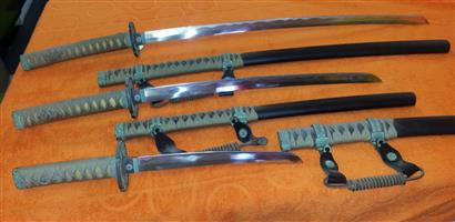 Samurai Sword set with Stand
