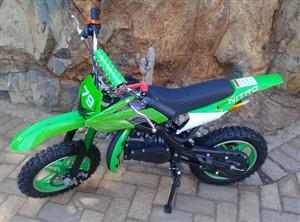Kids Pocket Pit Bike/Scrambler/Dirt Bike 2 Stroke 49cc- New Automatic with upgraded clutch and plastics