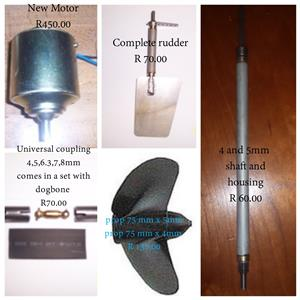 Bait boat spares: from R 50.00