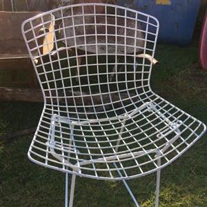Retro look garden chairs