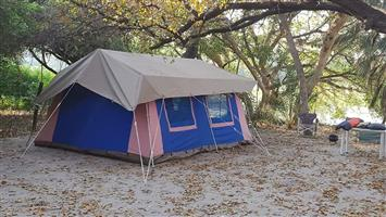 Large Family Canvas Camping Tent
